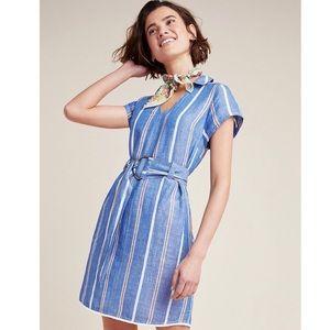 Pilcro Anthropologie Blue Striped Dress
